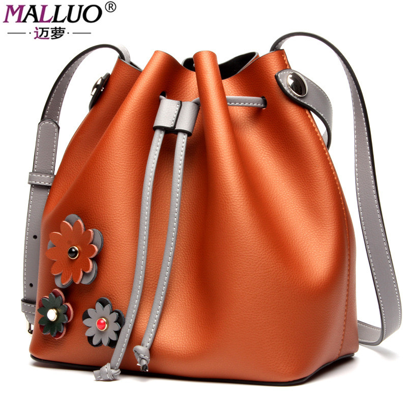 MALLUO Genuine Leather Women Messenger Bag Women Handbags Hot Shoulder Bag Fashion Women Bags  Luxury Brand Handbag Designer luxury genuine leather bag fashion brand designer women handbag cowhide leather shoulder composite bag casual totes
