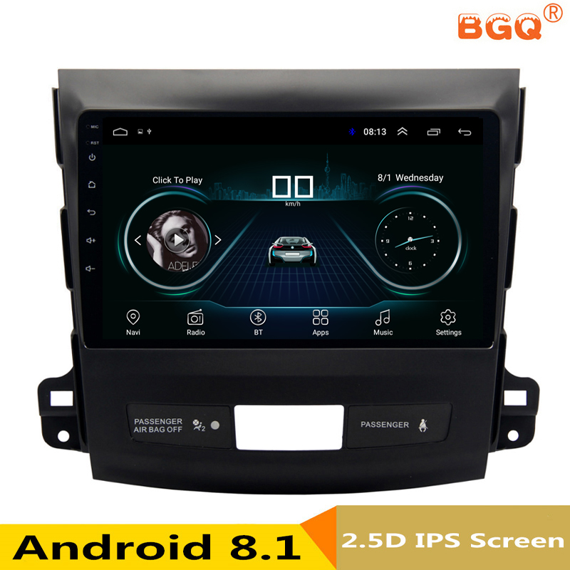 9 Android 8,1 автомобиль DVD gps для Mitsubishi Outlander 2006-2012/peugeot 4007/Citroen C- крест автомобилей Радио Стерео Навигатор bluetooth