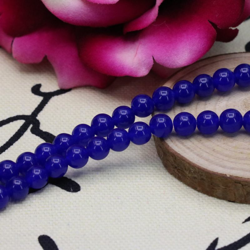 Blue chalcedony loose beads round shape 6mm 15inches DIY hot sale stone,suitable handmade for making design bracelet necklace
