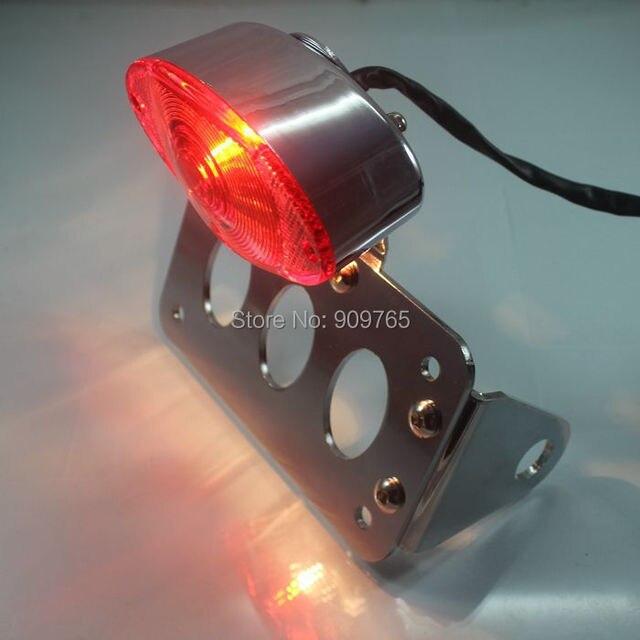 Montaje lateral de cromo cola luz Marcos de matrícula soporte ...