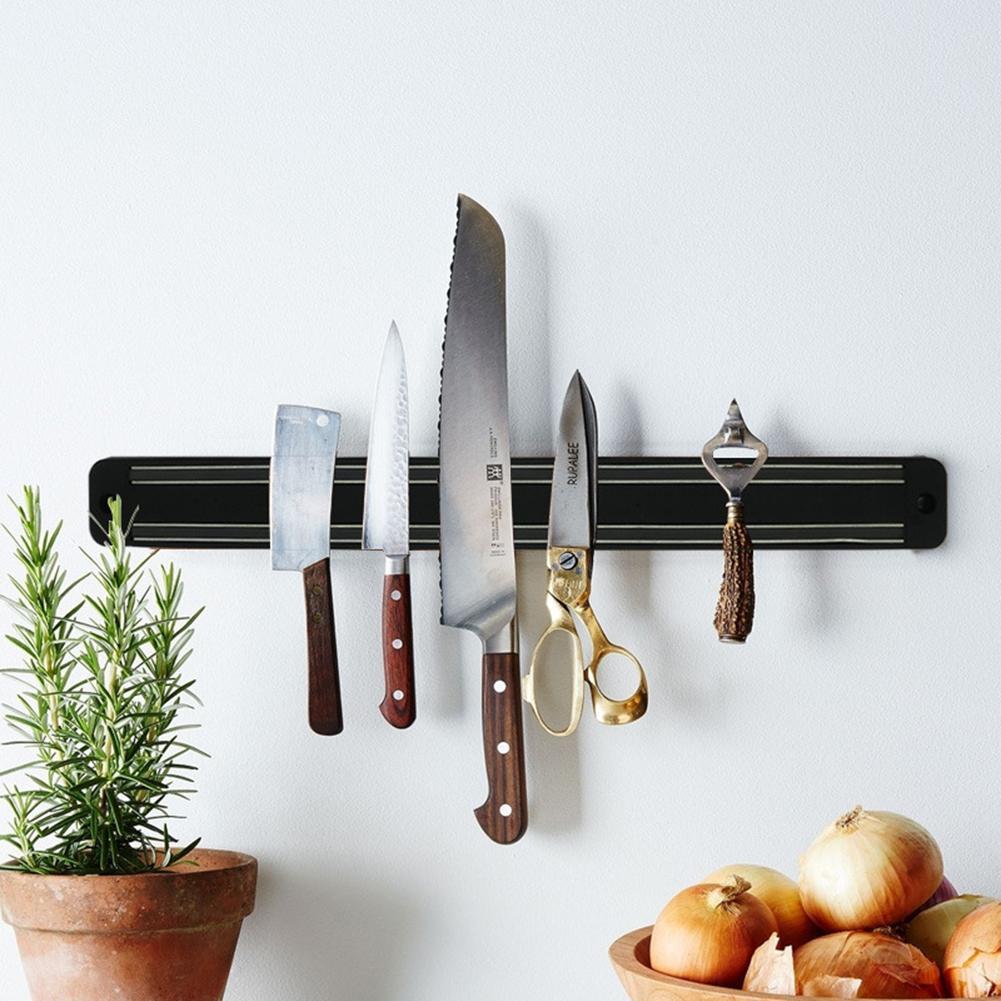 No Hook Magnetic Tool Holder Stainless Steel Magnetic Wall-mounted Magnet Mount Tool Holder Cutter Holder Kitchen Knives