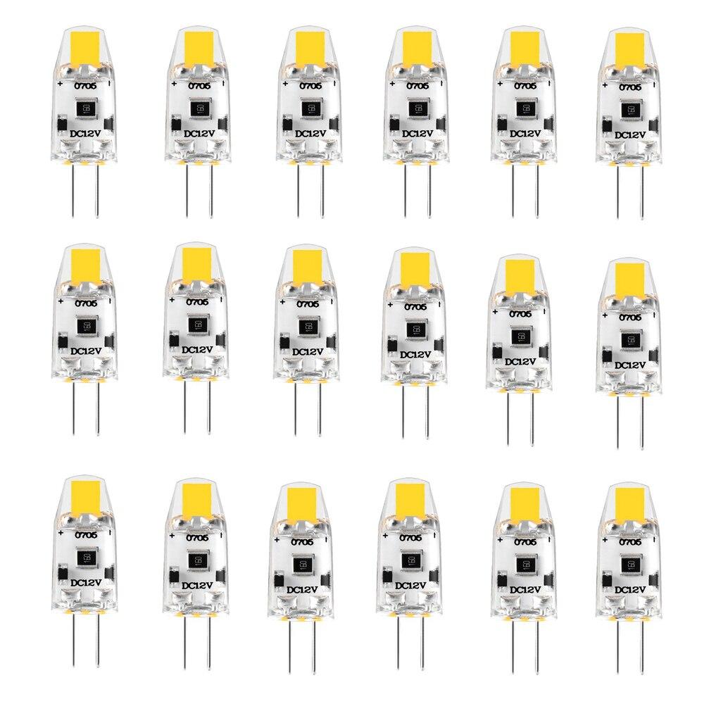 20 حزمة G4 LED لمبة 12 فولت تيار مستمر إضاءة جدارية ليد قابلة للخفت G4 مصباح مصابيح كهربائية 1.5 واط 360 شعاع زاوية استبدال 15 واط الهالوجين الدافئة الط...