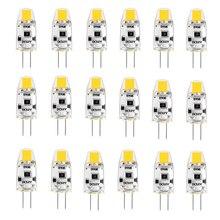20 шт./упаковка, диммисветодиодный Светодиодные лампы G4 12 В постоянного тока, COB светодиодные лампы G4, лампочки 1,5 Вт, 360 Угол луча, заменяемые галогенные, 15 Вт, теплый, естественный, холодный белый свет