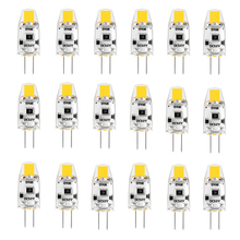 Paquete de 20 bombillas LED G4 12V DC regulable COB LED G4 lámpara bombillas 1,5 W 360 Ángulo de haz reemplaza 15W halógeno blanco frío, cálido, Natural