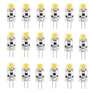 Image 1 - Paquete de 20 bombillas LED G4 12V DC regulable COB LED G4 lámpara bombillas 1,5 W 360 Ángulo de haz reemplaza 15W halógeno blanco frío, cálido, Natural