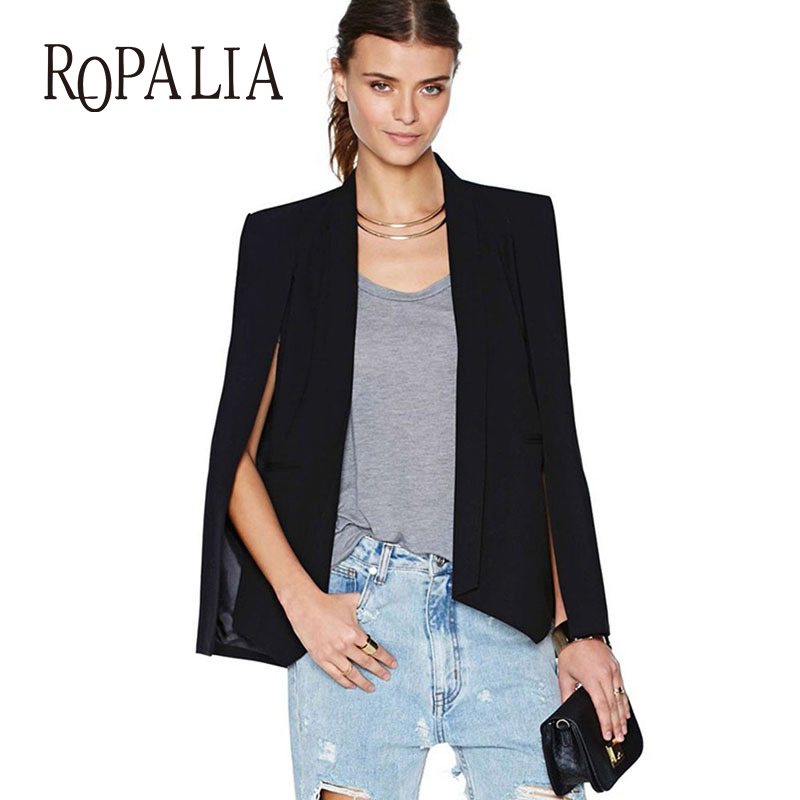 ROPALIA Women Coat Long Sleeve Cape Jacket Blazer Suits