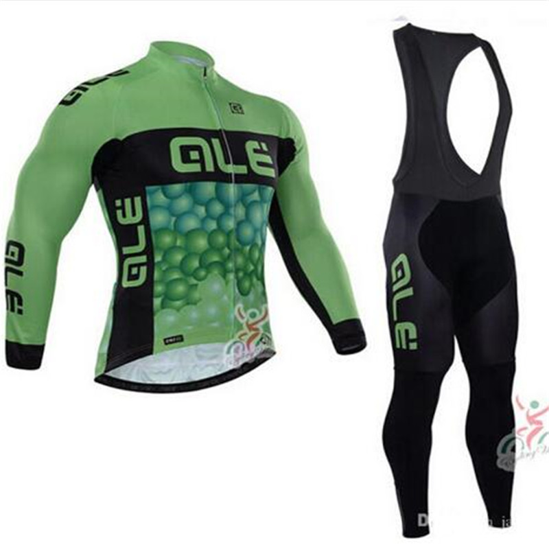 2018 Cycling Sets Mens Bike Riding ALE Long Sleeve Cycling Jersey Suits Cycling Clothing Jersey Sets