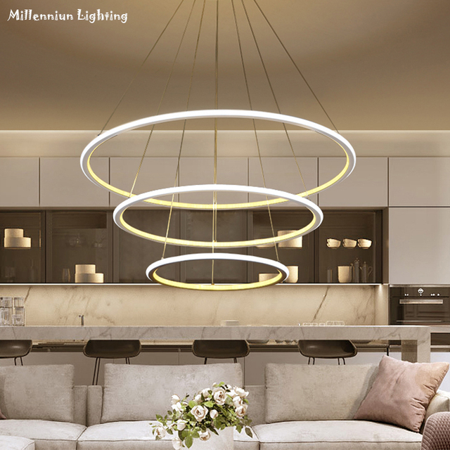Elegant Moderne Led Ring Lustre Beleuchtung Fr Esszimmer Restaurant  Leuchten Acv Hngen With Beleuchtung Esszimmer