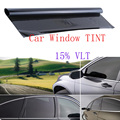 Profesional Humo Oscuro Negro Car AUTO Glass Window TINT 15% Forma VLT Película 600x50 cm Car Styling Hojas de La Ventana y Solar protección