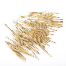 100pcs Spring Test Probe R100-4VW Length 38.3mm Brass Nickel Plated Test Probe Instrument Test of Circuit Boards
