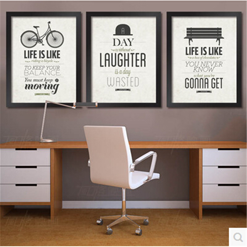 inspirational office pictures. Framed Office Inspirational Modern Decoration Painting English Art Wall Paint Picture On Canvas Mural 28X23 CM-in \u0026 Calligraphy From Home Garden Pictures C