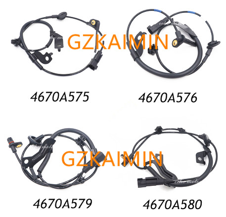 SET OF 4 Front Rear ABS Wheel Speed Sensors set for Mitsubishi Lancer Outlander 4670A576 4670A575 4670A580 4670A579 .