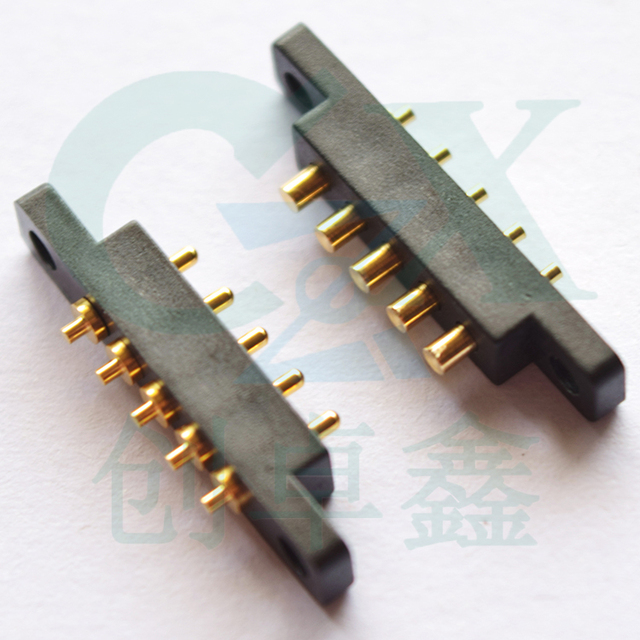 femlae and male 5pin pitch 2.54mm battery contact charger pin SMT  pogo pin connector
