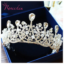 Handmade Baroque Stunning Crystals Wedding Tiara and crown Bridal Bridesmaids Queen Princess Pageant Party Crown RE753