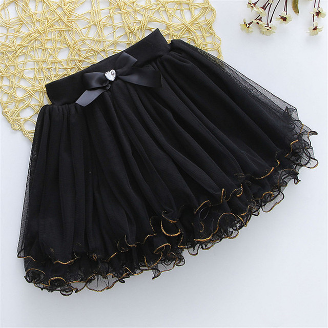 Princess Style Girls Summer Skirts Party Wedding Ball Gown With Bowknot Elegant Children Beach Mini Skirt 2016 New Fashion