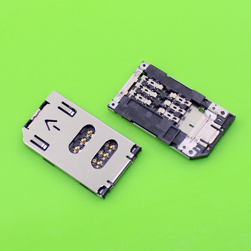 ChengHaoRan 1 Piece Replacement sim card tray socket slot holder connector for samsung and so on.KA-094