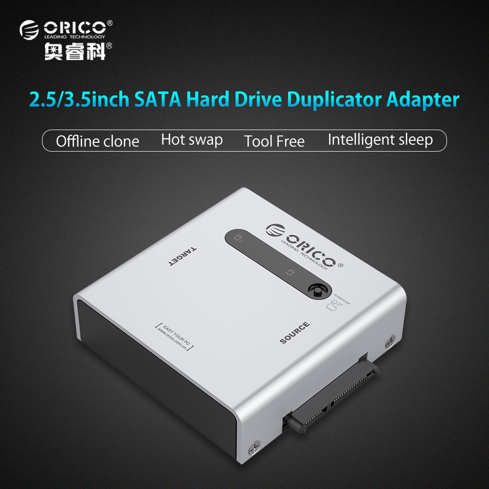 ORICO Dual-bay SATA Hard Drive Duplicator Support Offline Clone USB3.0 HDD Case for 2.5/3.5 inch HDD/SSD with 12V 4A Adapter веб камера canyon cne cwc2 черный серебристый