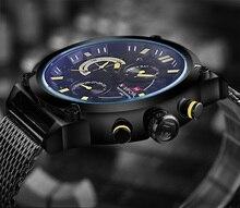 NAVIFORCE Luxury Brand Full Steel Men Watches Men's Quartz 24 Hour Date Clock Male Sport Military WristWatches Relogio Masculino