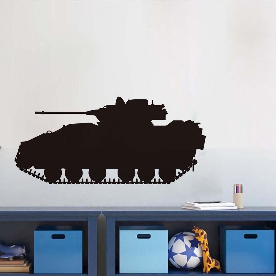 Free Shipping Waterproof Military Army Tank Vinyl Wall Sticker