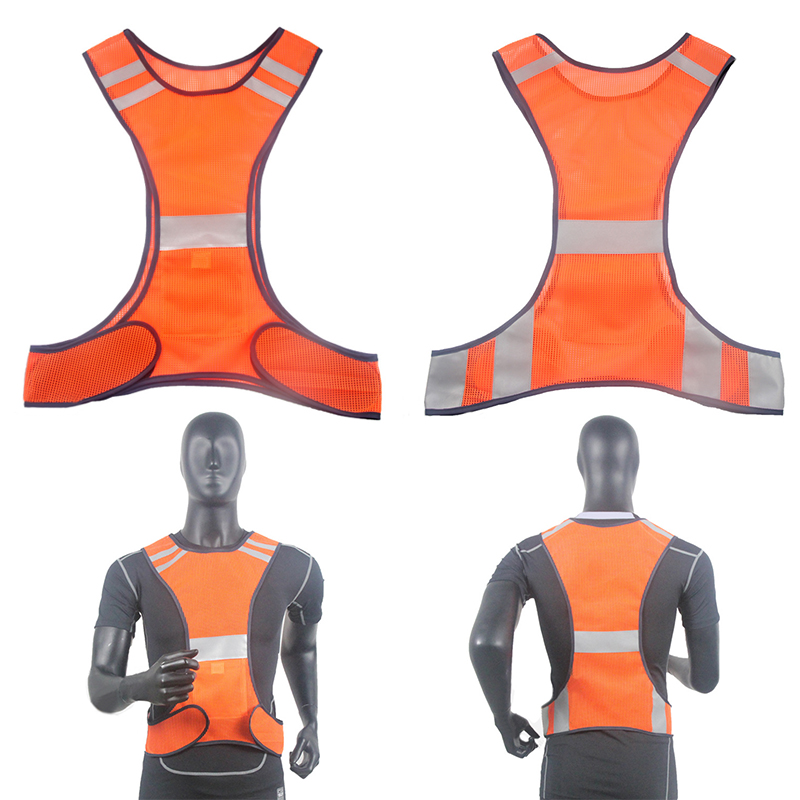 New Arrival High Visibility Reflective Vest Security Waistcoat For Equipment Night Running Riding High Quality