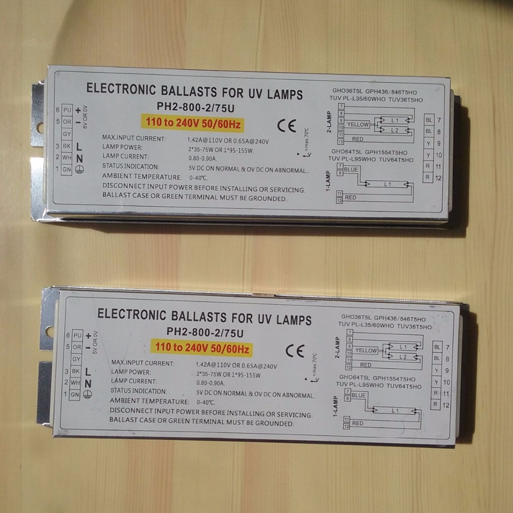 150W Germicidal Lamp Electronic Ballasts for UV Lamp GHO36T5L GPH436 846T5HO TUV PL L35 60WHO TUV36T5HO