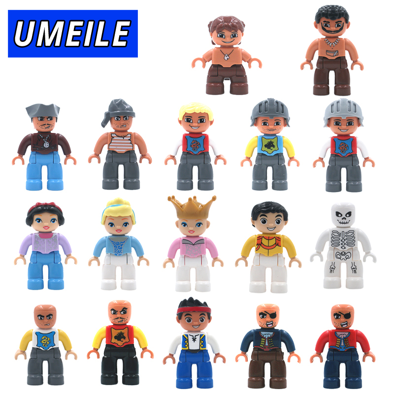 UMEILE 1Pcs  Original Pirate Princess Family Big Building Blocks Brick Figure DIY Kids Toys Compatible with Duplo настенно потолочный светильник eglo navedo 93448