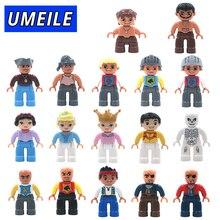 UMEILE 1 Pcs Original Do Pirata Princesa Família Grandes Blocos de Construção Figura De Tijolos DIY Brinquedos para Crianças Compatível com Duplo