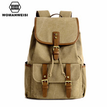 High Quality Canvas Women Travel Backpack 2017 Fashion Vintage Male Backpacks Laptop Computer Men Bagpack Female School Bags
