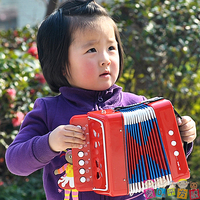 Free Shipping Child Plastic Accordion Toy Baby Musical Instrument Toy Child Accordion Music Toy Gift For