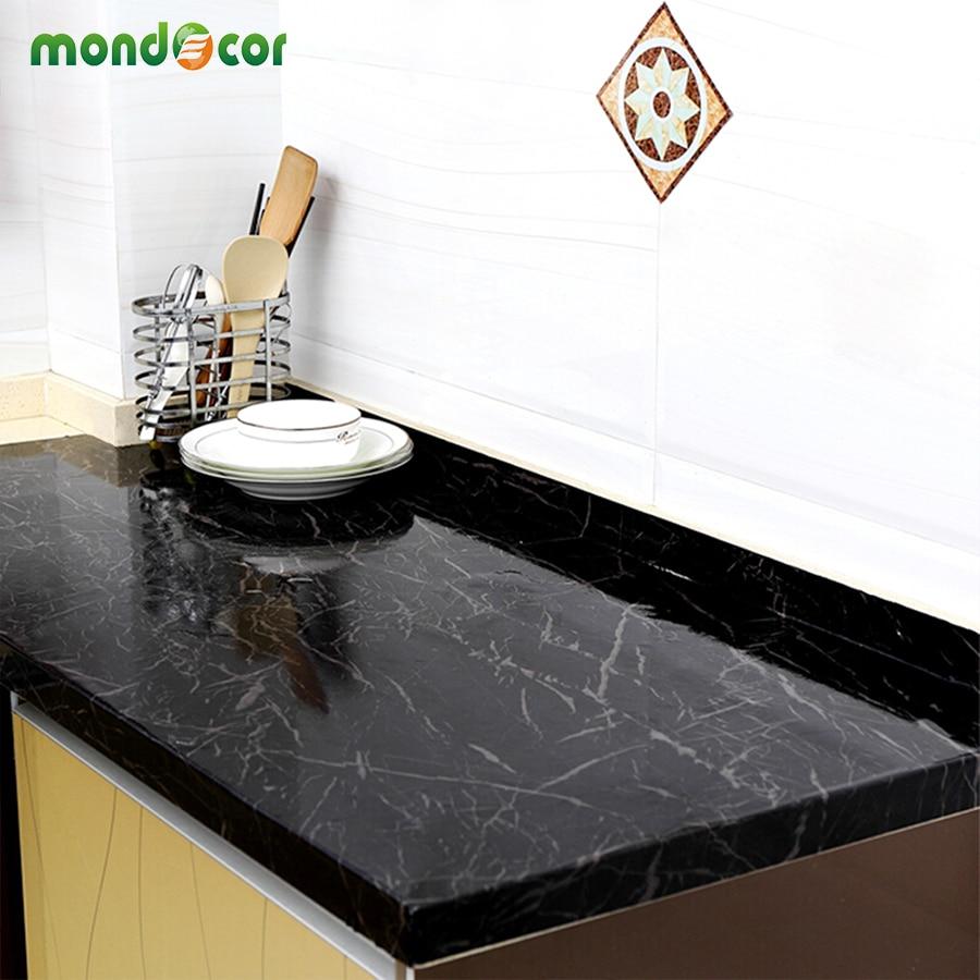 PVC Marmor Wand selbstklebende Tapete Rolle Bad Küche Arbeitsplatten ...