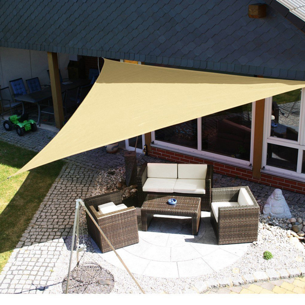 Shade Sails & Nets New Fashion 5m Triangle Shade Sail Net Cloth Outdoor Swimming Pool Waterproof Sun Shade Sail Prevent Uv Canopy Home Garden Awning Cover Cap