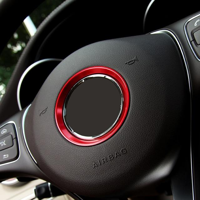 Angelguoguo Voiture volant emblème décoratif cercle anneau modifié 3D autocollant pour Mercedes Benz Un B C E Classe GLK GLA