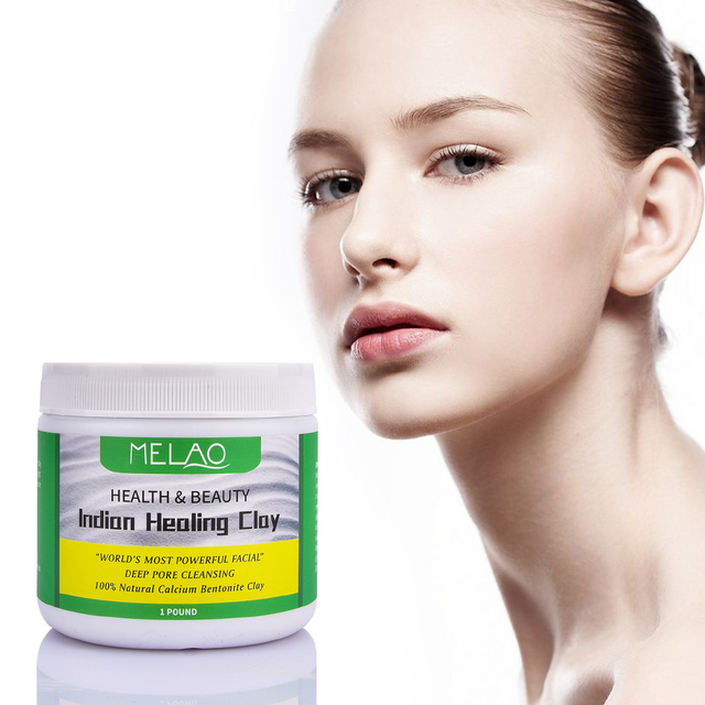 Face Mask Powder Natural Indian Healing Clay White Deep Skin Pore Cleansing Moisturizing Replenishment Oil Control Shrink Pores 1