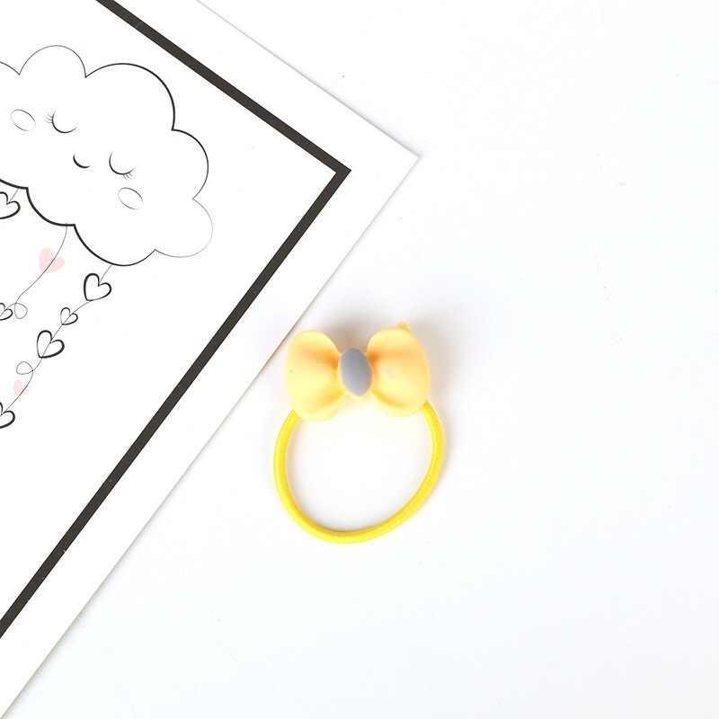 1 шт. маленькие кольцевые резинки для волос для девочек, цветные эластичные резинки для волос, аксессуары для волос, головные уборы