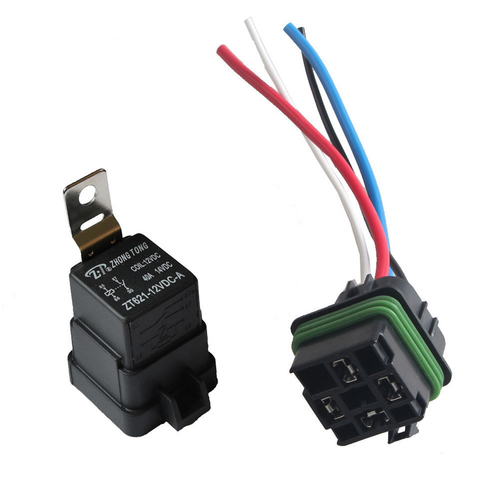 medium resolution of ee support car motor 12v 40a spst relay socket plug 4p 4 wire kit waterproof iron sales xy01 in car switches relays from automobiles motorcycles on