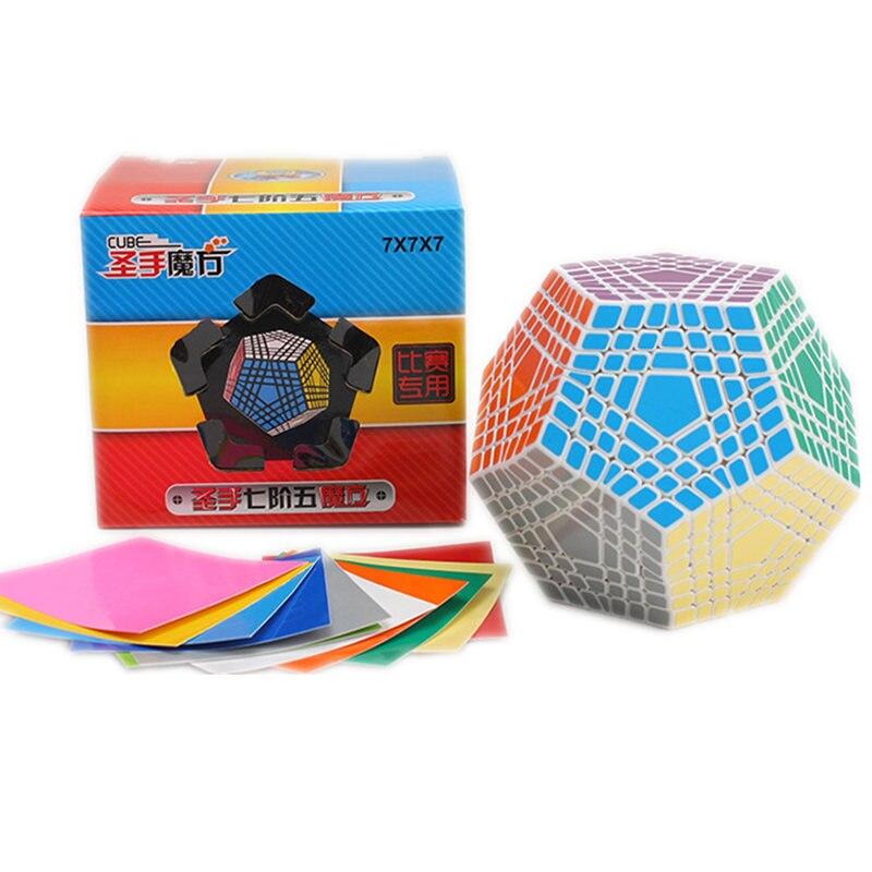 Shengshou Megaminx Cube 7x7 Wumofang 7x7x7 Cube magique professionnel Dodecahedron Cube Twist Puzzle jouets éducatifs pour enfants