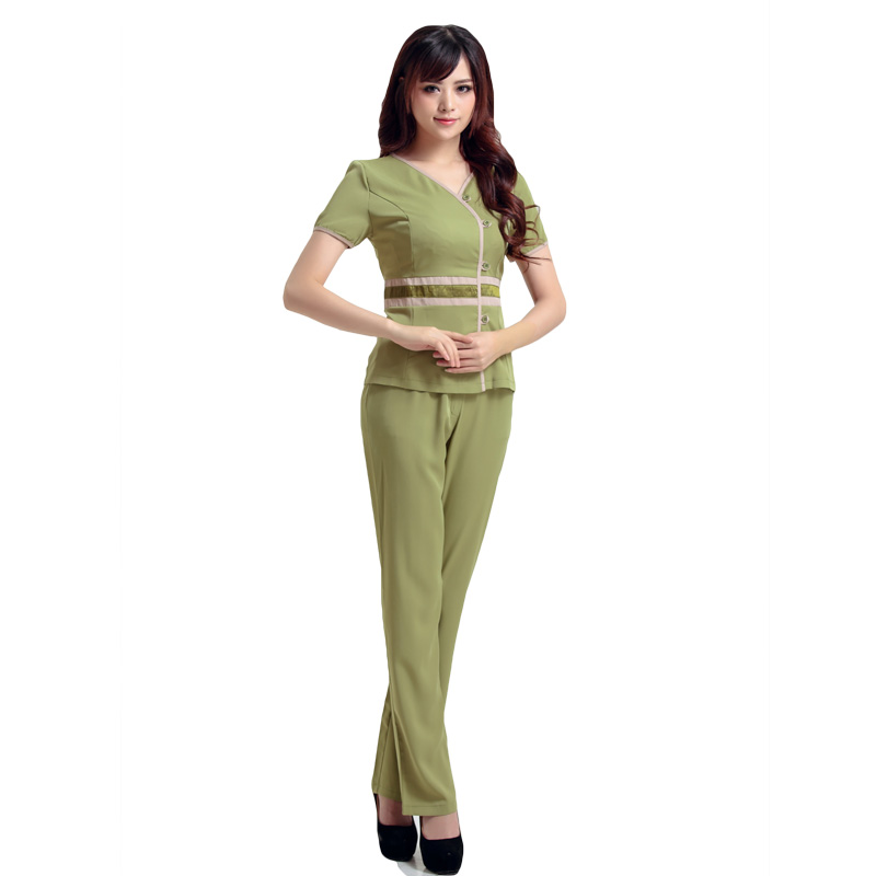 Free shipping elegant uniforms medical clothing hospital for Spa ladies uniform