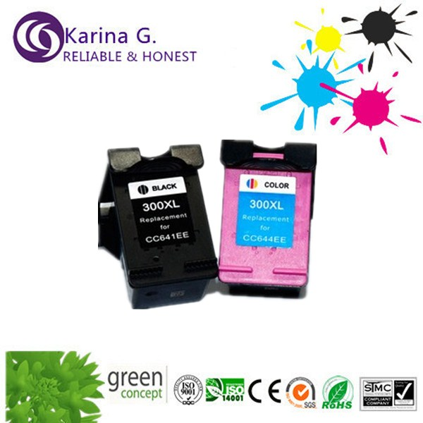 ФОТО 1 set bk+c refill  ink cartridge with printhead  for HP300XL for  HP Deskjet D4200 series for HP Officejet J5700