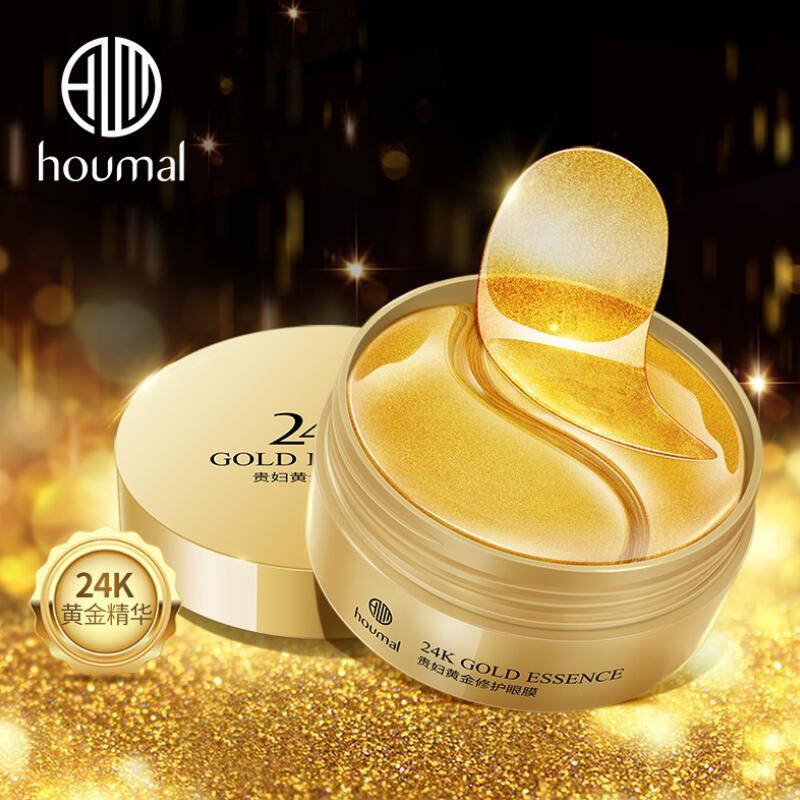 60pcs 24K Gold Essence Eye Mask Eye Bags Moisturizing Hydration Eye Patches Remove Wrinkle Eyes Skin Care-0