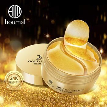 60pcs 24K Gold Essence Eye Mask Eye Bags Moisturizing Hydration Eye Patches Remove Wrinkle Eyes Skin Care