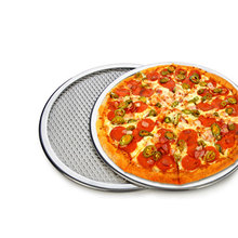 2016 New  Aluminium Mesh Pizza Screen Baking Tray Pizza Screen Net Cookware Bakeware Baking Tool Pizza Tools