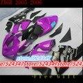 Freecustom комплект обтекателей для Kawasaki NINJA ZX 6R 636 05 06 ZX-6R 05-06 ZX6R 2005 2006 ZX 6R 05 06 Обтекатели цвета: фиолетовый  черный