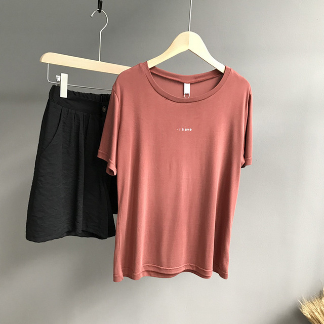 Women T shirt Cotton Casual For Lady Top Tee 2