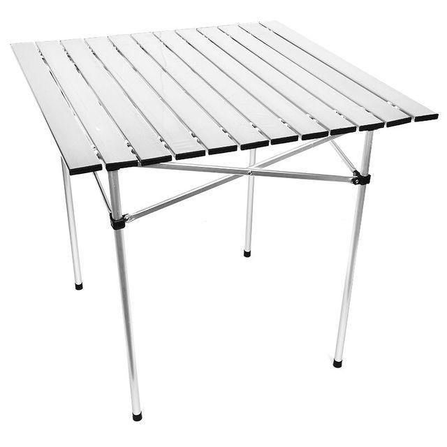 Tabela de acampamento ao ar livre de alumínio, dobrável, para churrasco, para 4 6 pessoas, ajustável, leve, simples, à prova de chuva mesa de trabalho