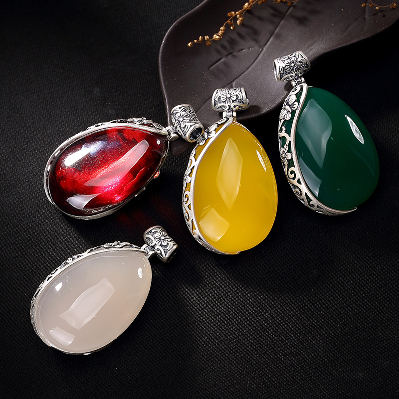 Hollow Out The Plum Blossom Chalcedony Pomegranate Red Silver Restoring Ancient Ways Ms Long Sweater Chain Pendant цена 2017