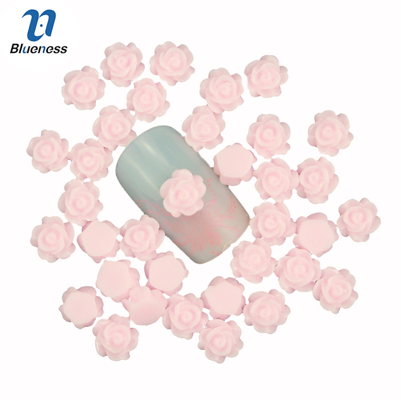 Blueness 3D Nail Art Decoration Charms Jewelry DIY Design Pink Rose Flower Romantic Nail Stud Tips Nail UV Gel Accessories PJ211 10 color 20m rolls nail art uv gel tips striping tape line sticker diy decoration 03ik