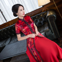 Novelty Fashion Women S Long Cheongsam Top Selling Chinese Female Rayon Qipao Dress Vestidos Size S