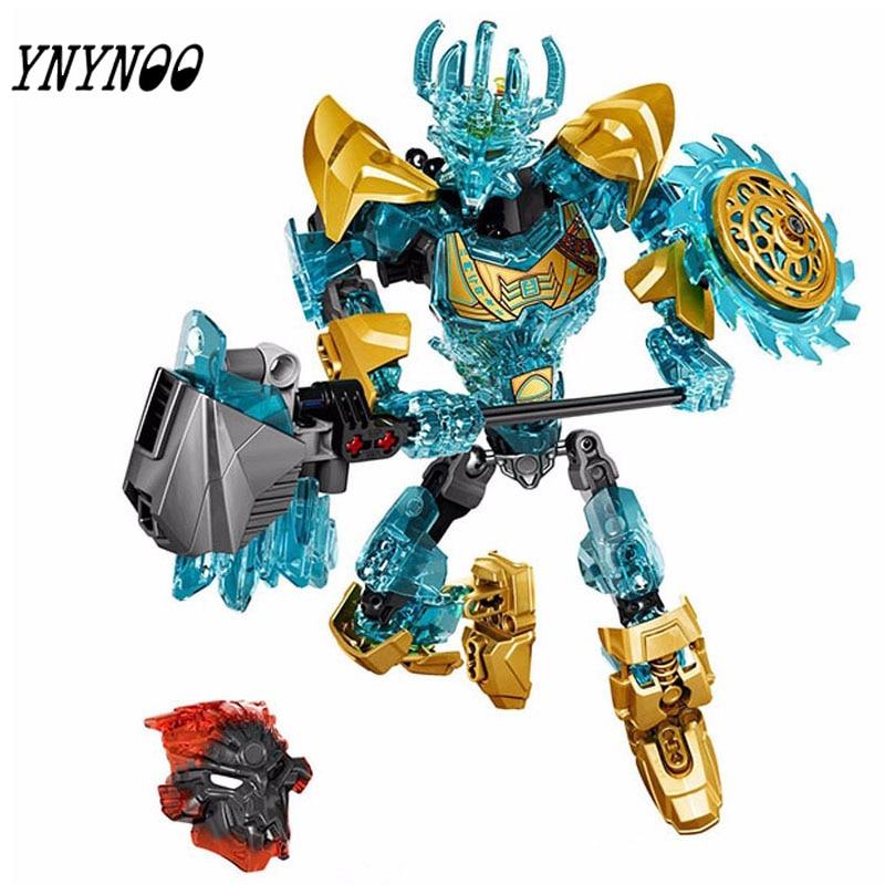 (YNYNOO)KSZ 613-1 Biochemical Warrior Bionicle Ekimu The Msdk Maker Building Block Toys Compatible 71312