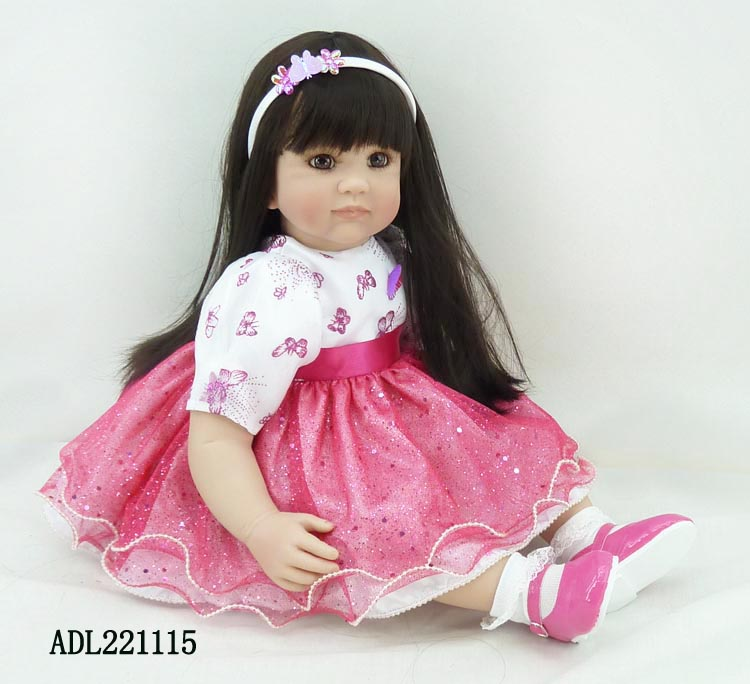 Lifelike Princess Silicone Vinyl Reborn Toddler Baby Doll Toys High Quality Child Kids Birthday Christmas New Year Gifts silicone vinyl reborn baby doll toys kids child birthday christmas new year gifts high quality lifelike toddler girl dolls