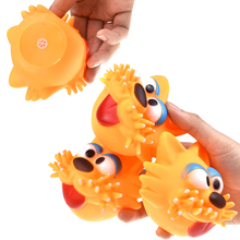 2019 Pet Supplies Squeak Toys For Small Dog Red Tongue Big Eyes Cat Head Dogs Funny Vocal Products Squeeze Sound